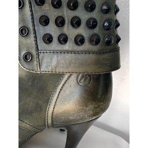Bronx Shoes - BRONX RENNA GADE LEATHER STUDDED BOOTS SZ 40 / 9